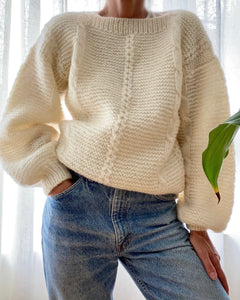 Vintage Boat Neck Sweater with Bell Sleeves