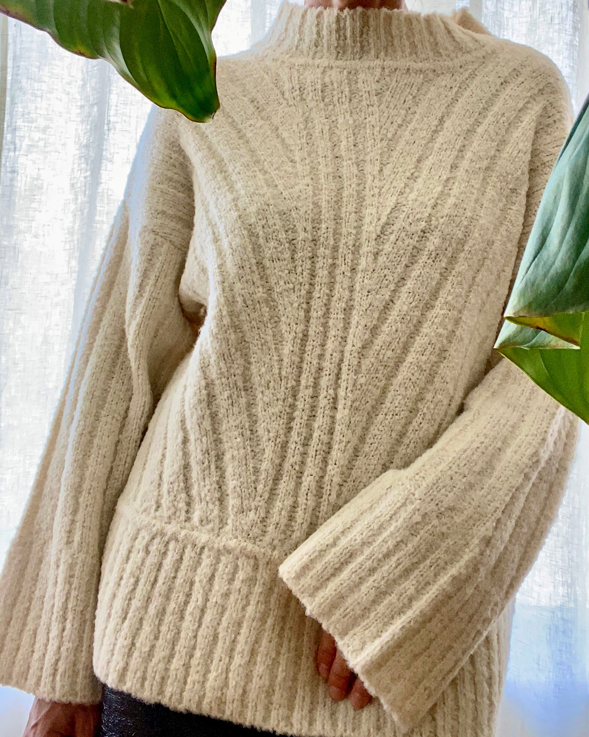 KORDAL Tate Sweater in Cream Rib