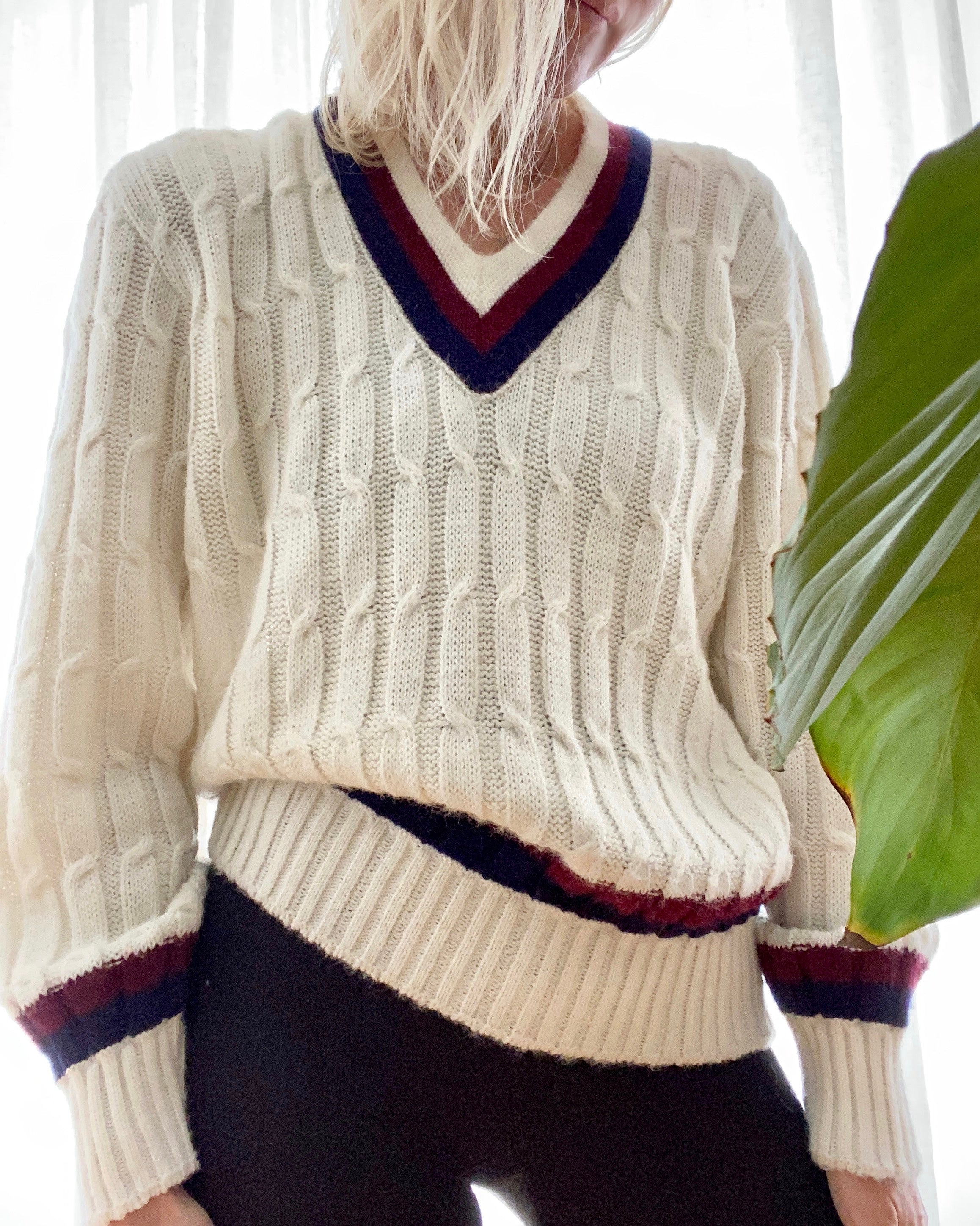 Vintage Cricket 1950's Cable Sweater