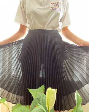 Pre Loved Crepe Accordian Pleated Skirt