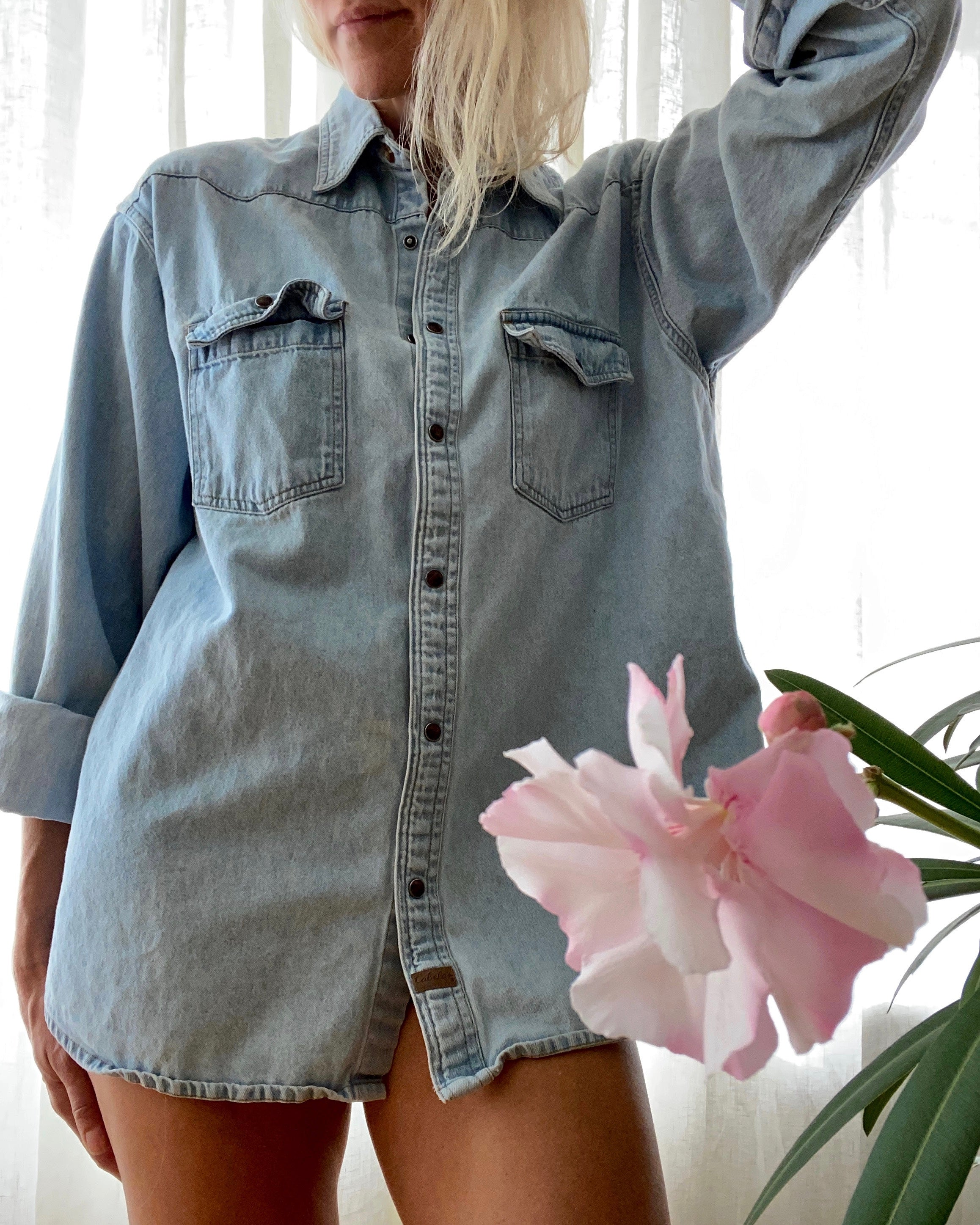 Vintage Light Wash Jean Shirt