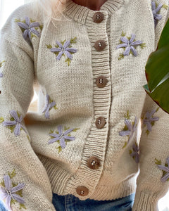 TACH CLOTHING Lucero Wool Embroidered Cardigan
