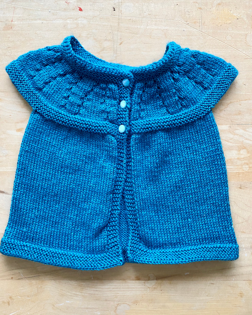 Handknit Necklace Pointelle Vest Sweater Toddler