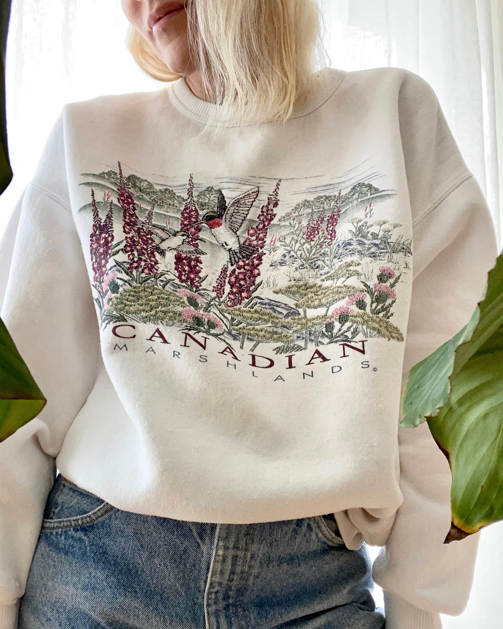VINTAGE White Nature Sweatshirt