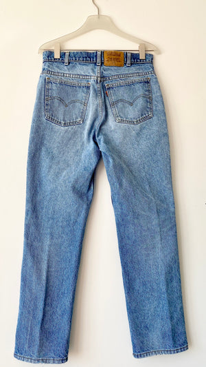 Vintage Levis 619 Orange Tab Medium Wash Straight Leg Jeans size 29