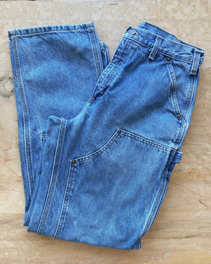 Vintage Carhartt Carpenter Medium Wash Jeans size 30