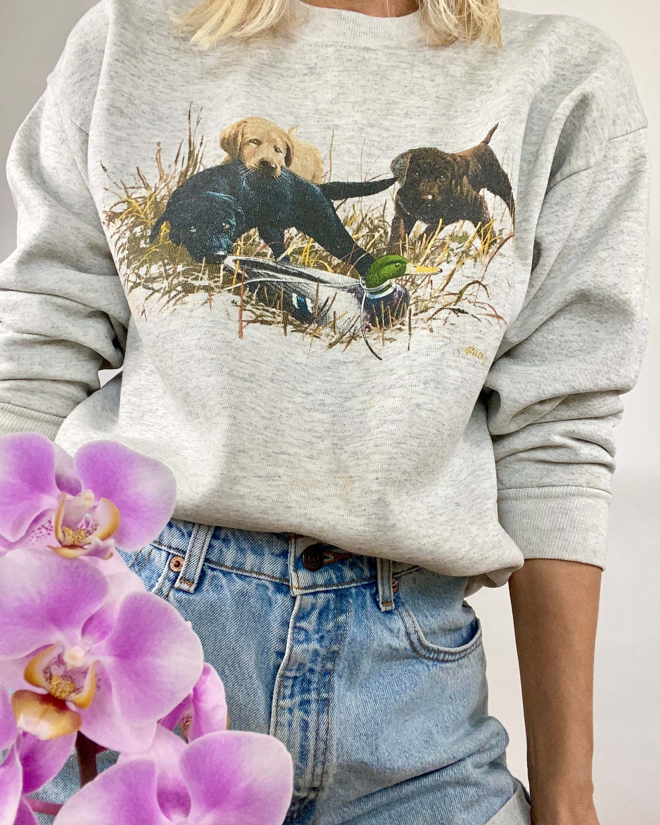 VINTAGE Labrador Retriever Sweatshirt LOVE