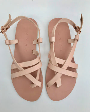 KYMA Elafonisos Blush Sandals Made in Greece