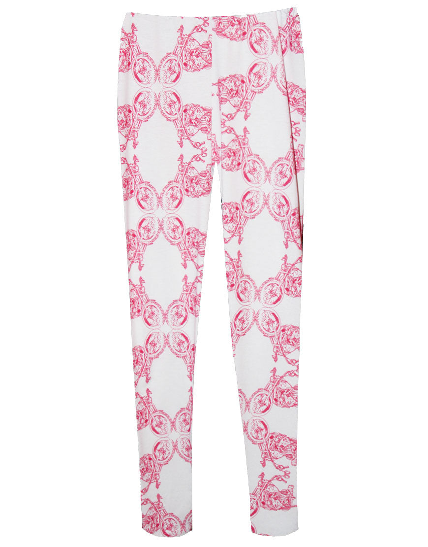 Pink Motorcycle Stretch Pants