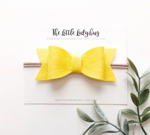 Buttercup Sadie Bow on Headband or Clip
