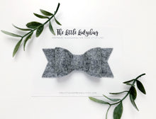 Heather Gray Sadie Bow on Headband or Clip