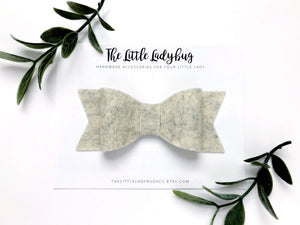 Heather Yellow Sadie Bow on Headband or Clip