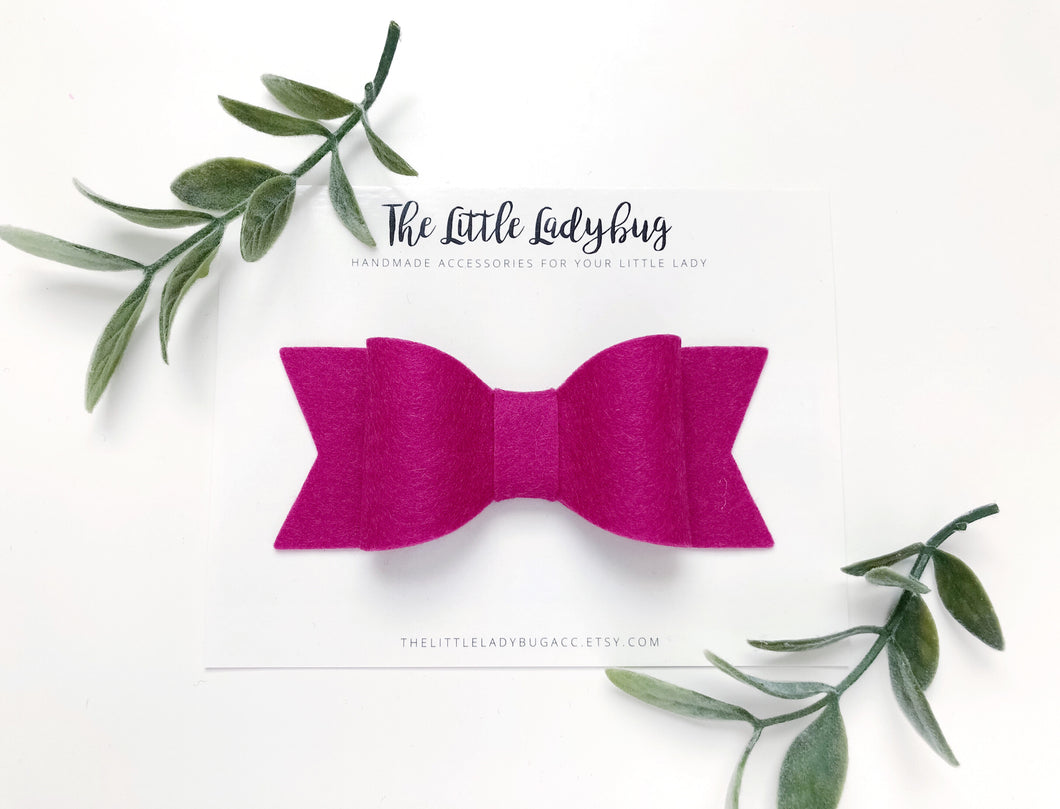 Mulberry Sadie Bow on Headband or Clip
