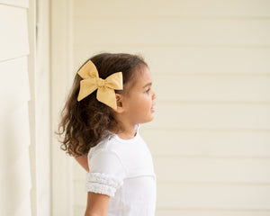 Buttercup Yellow Hand-Tied Fabric Bow