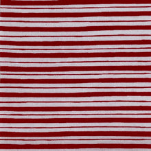 Ruby Red Stripes Hand-Tied Fabric Bow