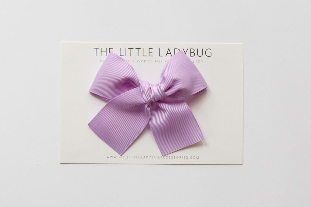 Lavender Purple Hand-Tied Ribbon Bow