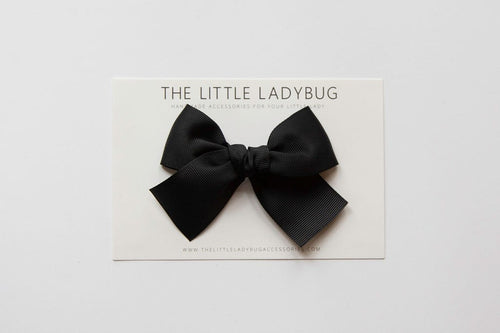 Black Hand-Tied Ribbon Bow