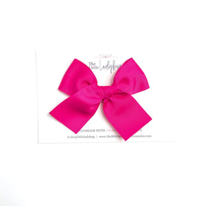 Watermelon Set of Three Hand-Tied Ribbon Bows in Fuchsia, Black Gingham and Green