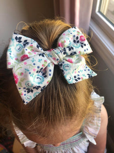 English Garden Hand-Tied Fabric Bow