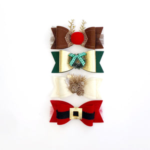 Holiday Wool Felt Embellished Luxe Set