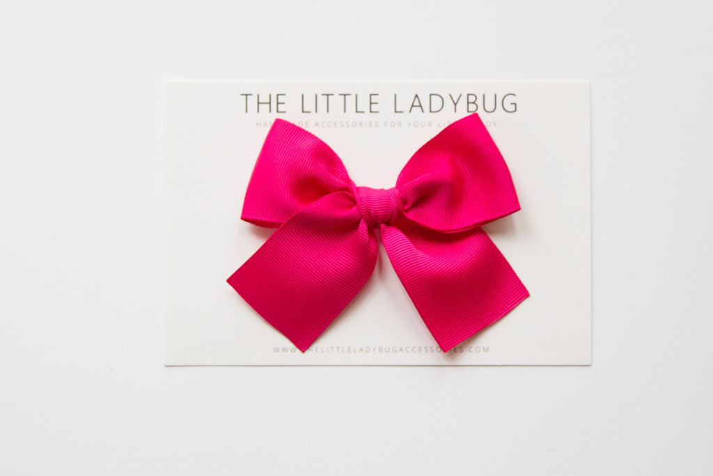 Fuchsia Pink Hand-Tied Ribbon Bow