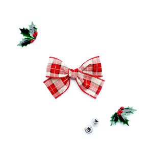 Christmas Plaid Hand-Tied Ribbon Bow