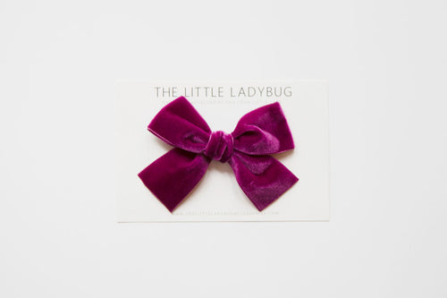Berry Purple Hand-Tied Velvet Bow