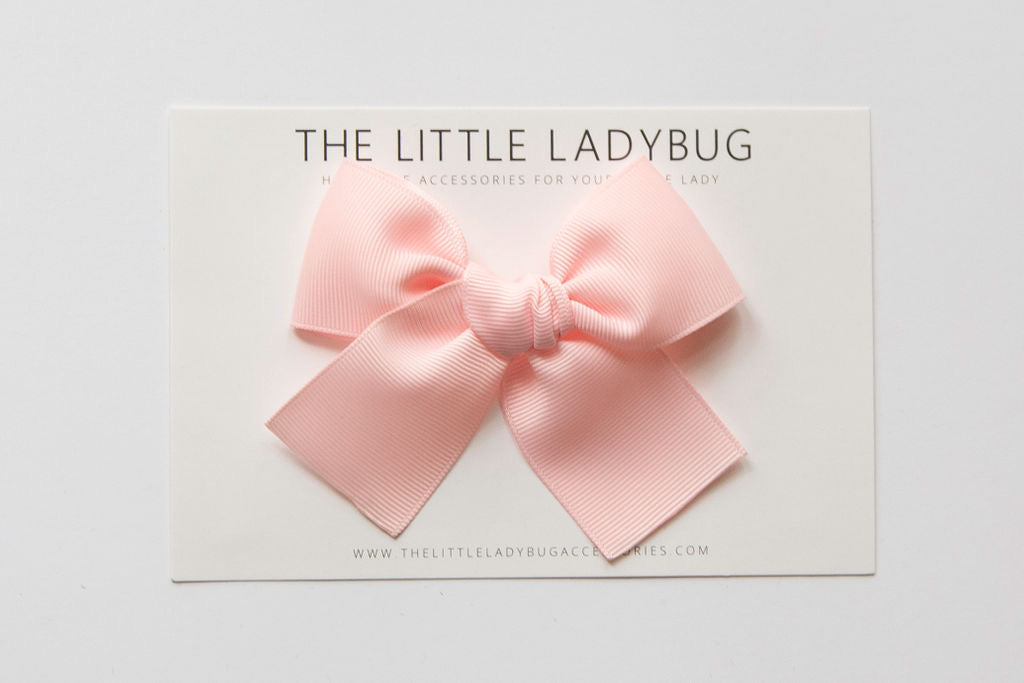 Light Pink Hand-Tied Ribbon Bow