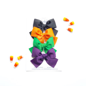 Hocus Pocus Set of Four Hand-Tied Ribbon Bows