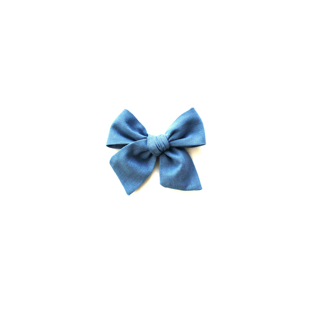 Chambray Hand-Tied Olivia Bow