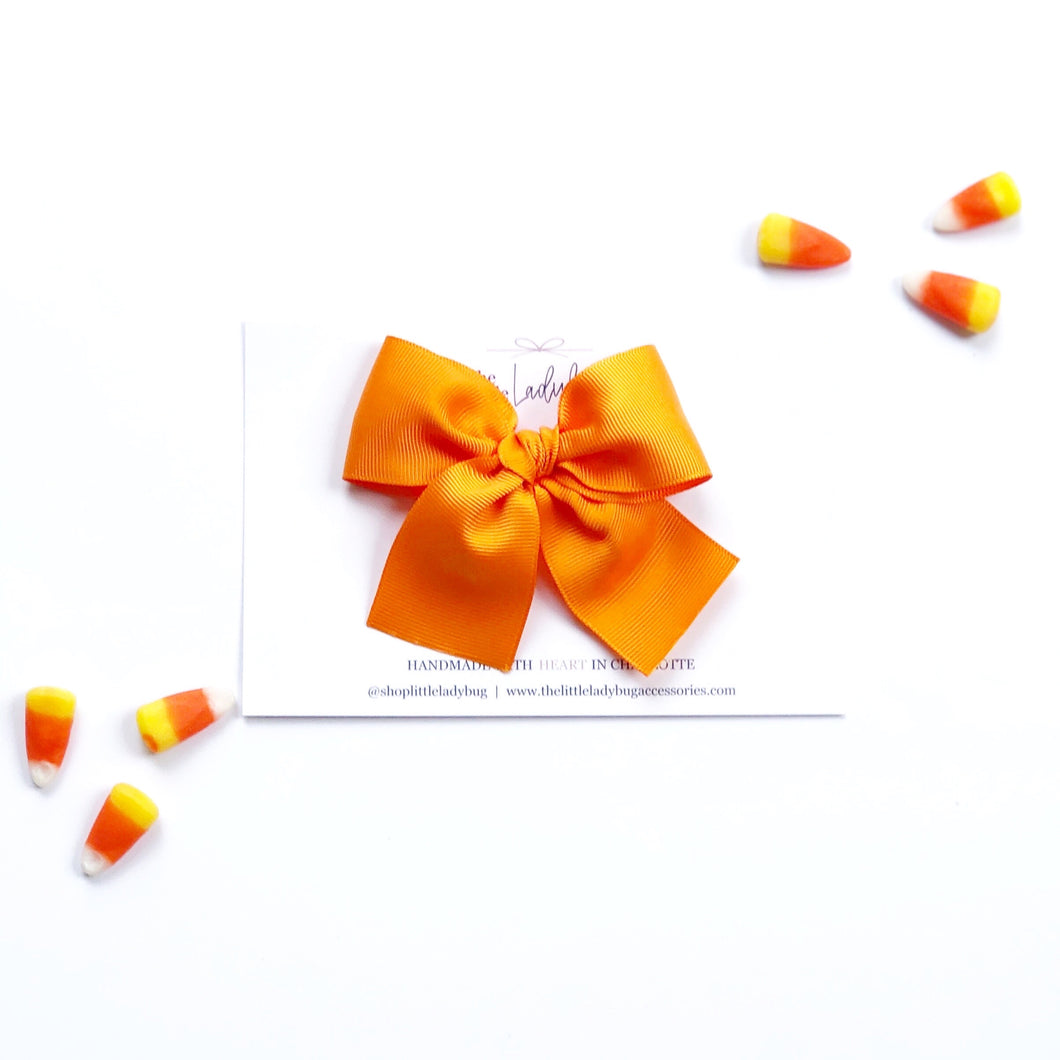 Orange Hand-Tied Ribbon Bow