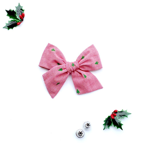 Oh Christmas Tree Hand-Tied Fabric Bow