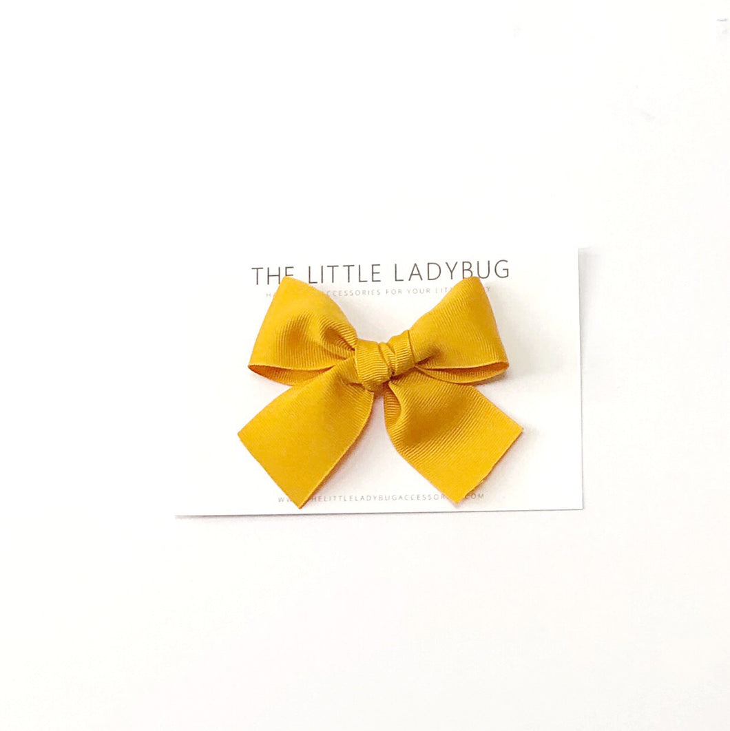 Mustard Hand-Tied Ribbon Bow