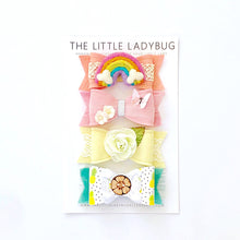 Set of Four Hand-Made Embellished Bows in the Bundle of Joy Collection