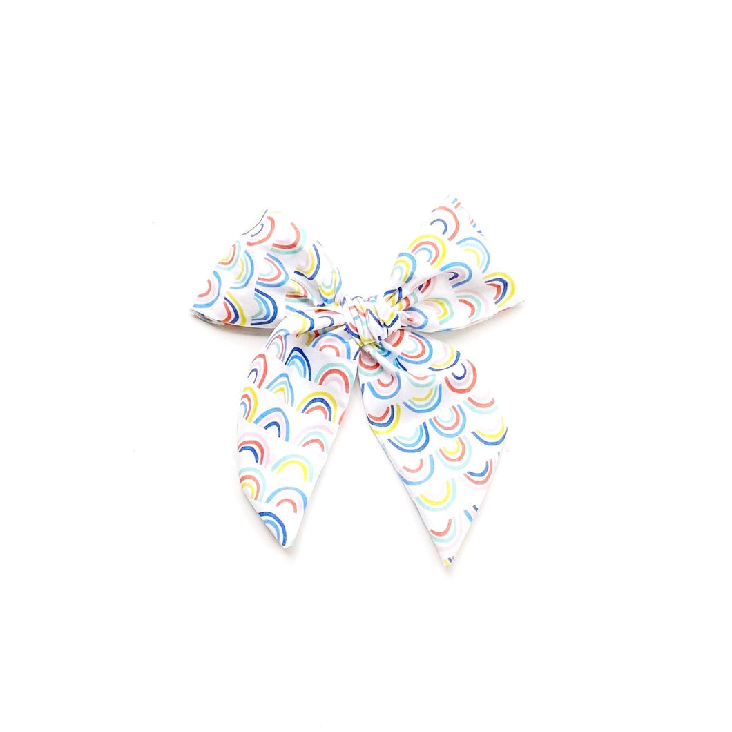 Over the Rainbow Hand-Tied Vivian Fabric Bow