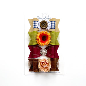 Thanksgiving Blessings Wool Felt Luxe Bow Set