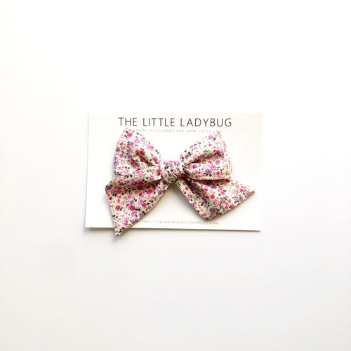 Orchid Fields Hand-Tied Fabric Bow