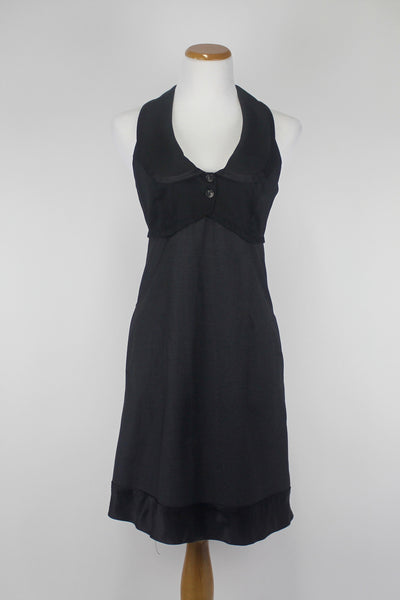 Anthropologie Matty M Black Lolita Vest Layer Dress Small Medium