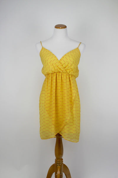 Anthropologie ModCloth Everly Yellow and Pink Womens Dress Medium