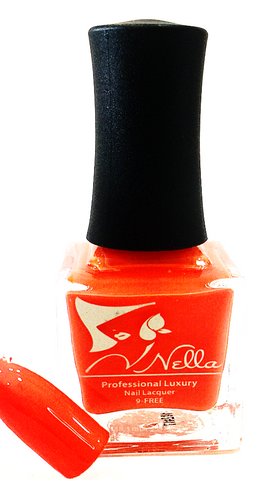 Nella nail polish, Color- Orange is The New Black, Nail polish, nontoxic, Nellabeauty.com, Nellabeauty.com