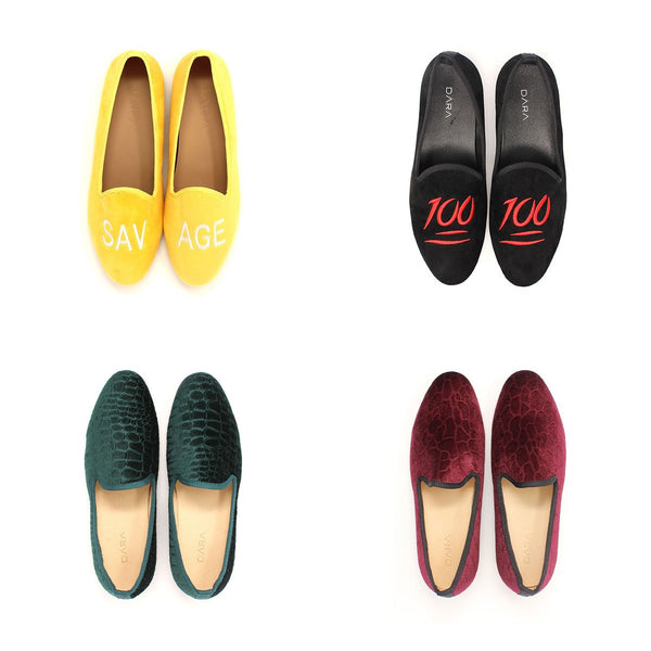 dara shoes mens milan velvet slippers