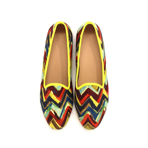 multi chevron naples velvet slippers dara shoes mens