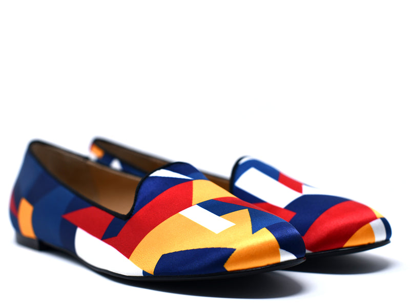 dara shoes womens color block slippers and flats angle view