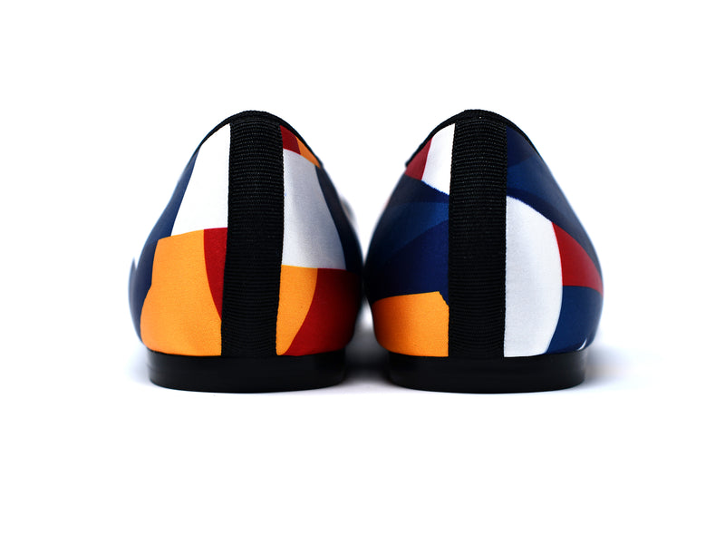 dara shoes womens color block slippers and flats back view