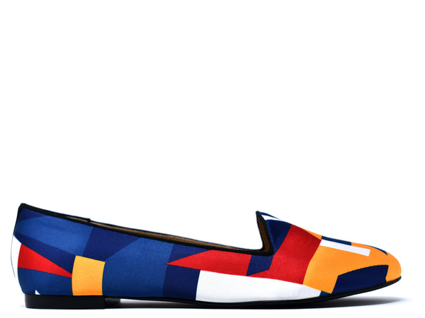 dara shoes womens color block slippers and flats side view