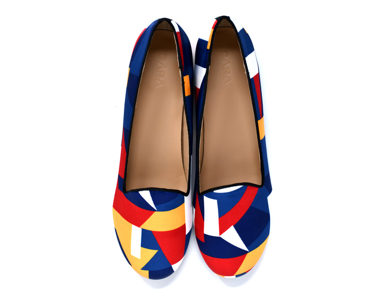 dara shoes womens color block slippers and flats top view