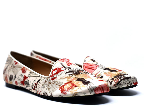 dara shoes womens toile slippers and flats angle view