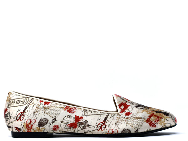 dara shoes womens toile slippers and flats side view