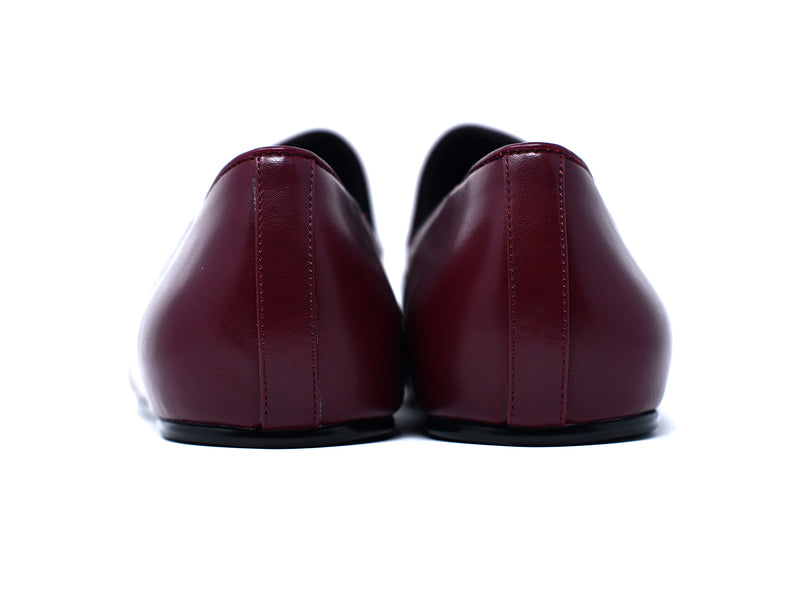 dara shoes mens pavia oxblood red leather loafers back view