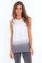 Women's Dip Dye Muscle Tank Top | MS-213